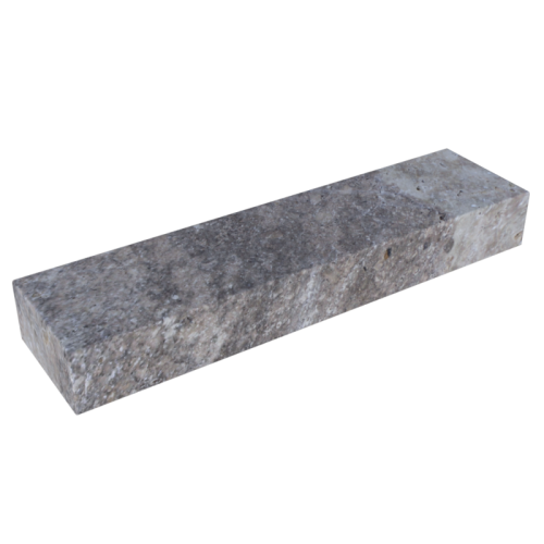 Silver Travertine 6'' Block Step